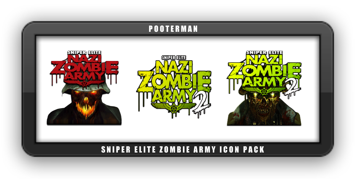 Sniper Elite Nazi Zombie Army Icon Pack by POOTERMAN