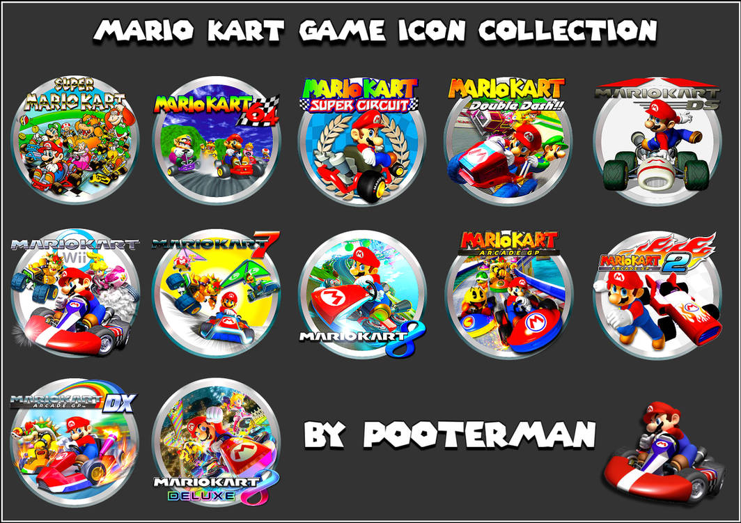 Mario Kart Game Icon Collection by POOTERMAN on DeviantArt