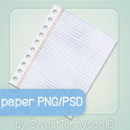 Notebook Paper Png