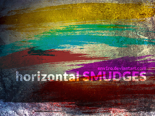Horizontal Smudges brushes by env1ro