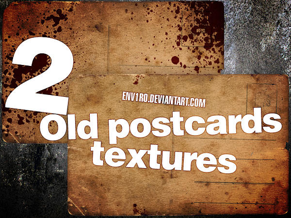 2 Old Postcards textures by env1ro