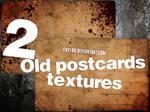 2 Old Postcards textures