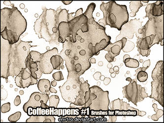 CoffeeHappens .1. Photoshop Brushes by env1ro