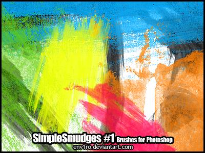 SimpleSmudges .1. Photoshop Brushes