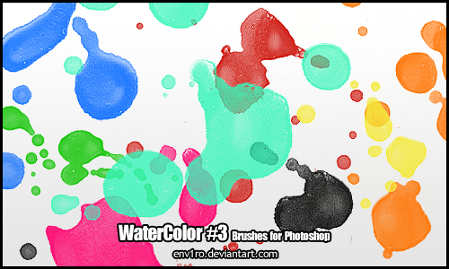 WaterColor .3. Photoshop Brushes Pack
