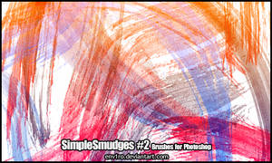 SimpleSmudges .2. Photoshop Brushes Pack by env1ro