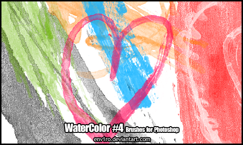 WaterColor .4. Photoshop Brushes Pack