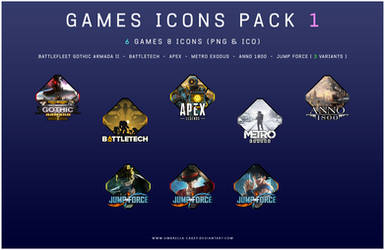 Games Icons Pack 1 by umbrella-cakey