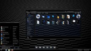 Windows 7 theme : Ebony v2