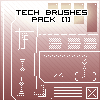 Tech Brushes Pack1 -First- by WestEndDJ