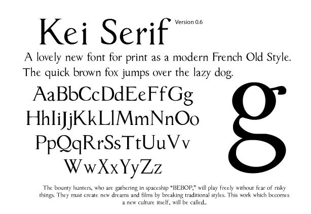 Kei Serif 0.6 by keisans-bold