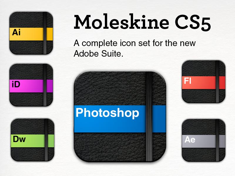 Moleskine CS5 Icons by keisans-bold