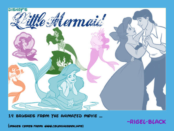Little Mermaid Set by Rigel-Black