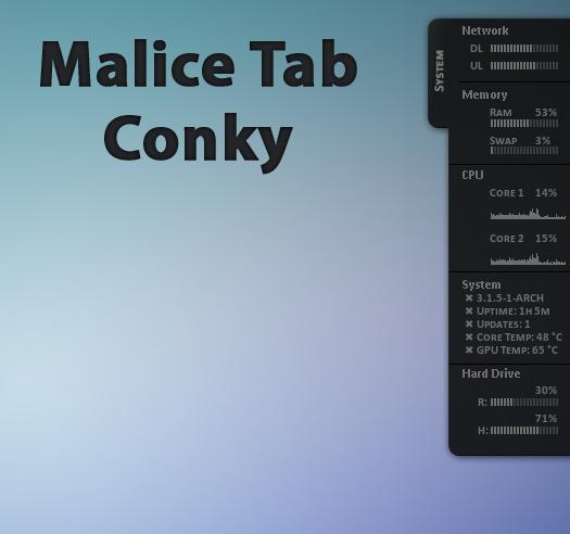 Malice Tab Conky by Blitz-Bomb