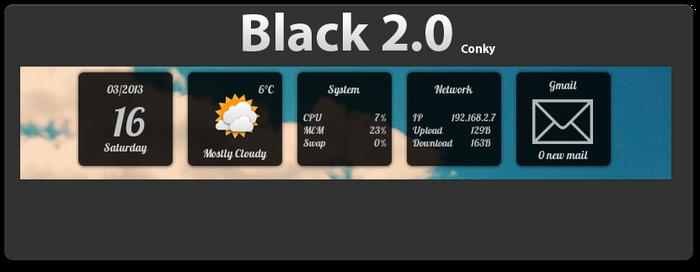 Black 2.0 Conky