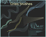 High resolution Lines brushes