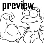 Muscolar Marge - animated by Gettar82
