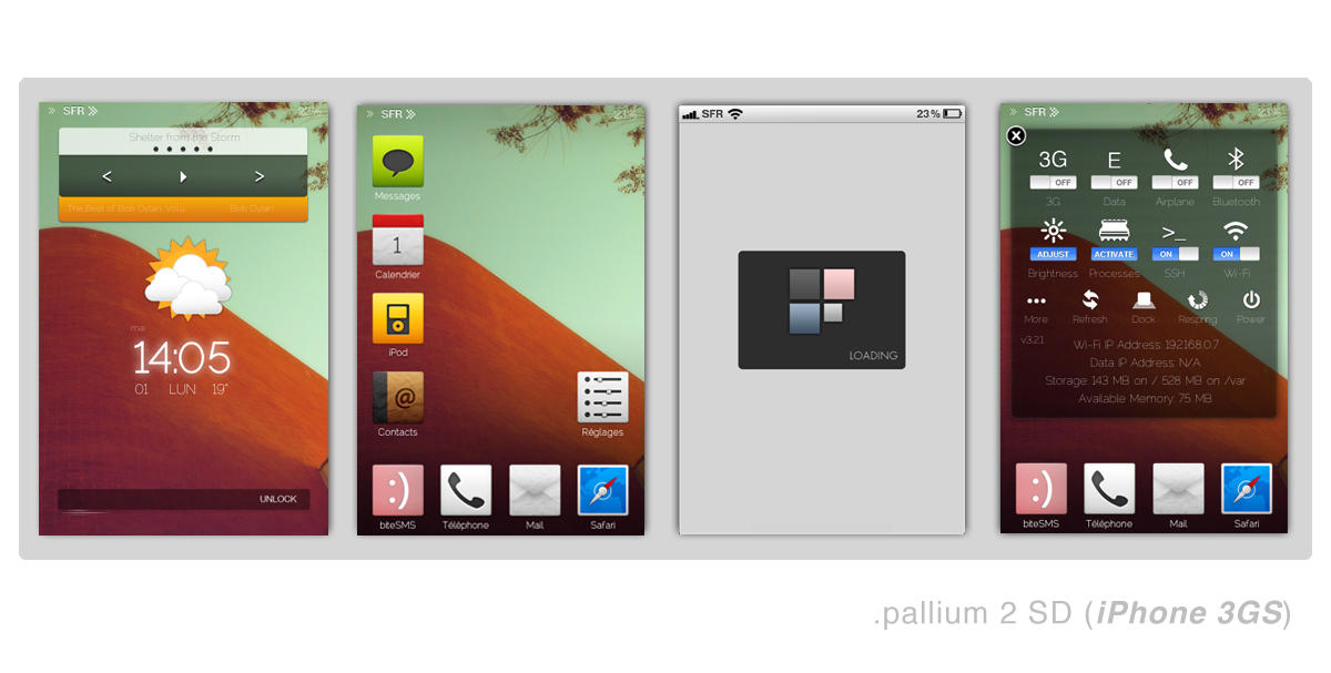 .pallium 2 for iphone 3GS by XLooo
