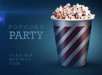 POPCORN Party Free PSD