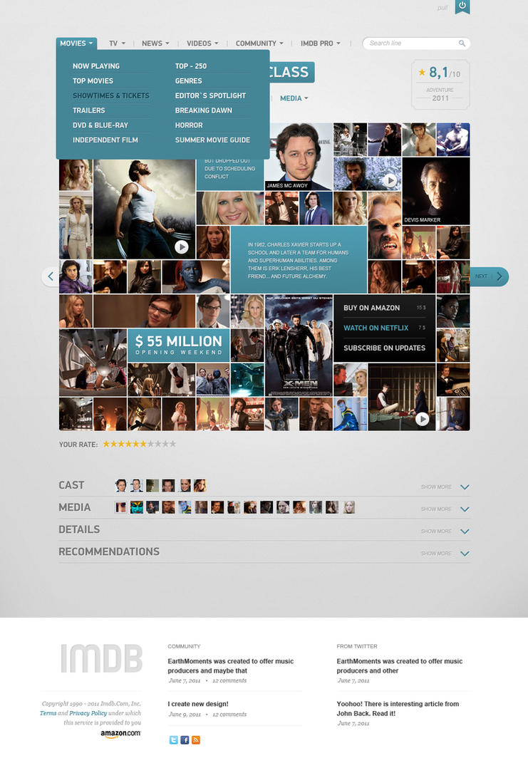 IMDB Film page concept PSD by vladimirkudinov