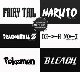 Anime Fonts