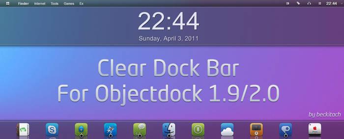 Clear dock bar
