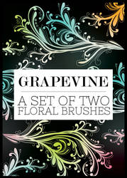 Grapevine Floral Brushes