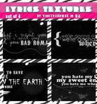Lyrics Textures Set