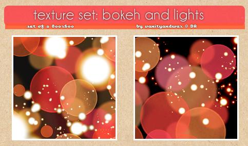 Texture Set: Bokeh And Lights by vanityandwax