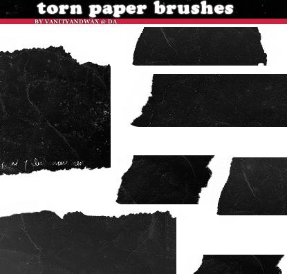 Brush Set: Torn Ancient Paper