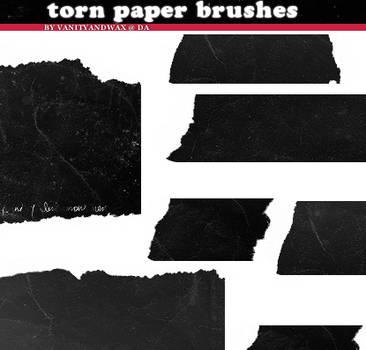 Brush Set: Torn Ancient Paper by vanityandwax