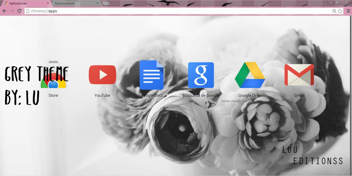 how to make google chrome grey
