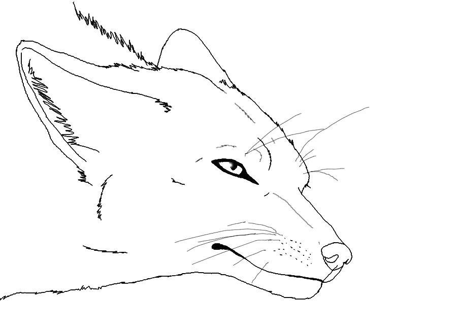 Fox Lying Down Lineart by Bambiiie on DeviantArt  Fox Lying Down ...