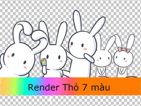 [ Render 7 ]: 4# Render Raibown Rabbit by Alethea-S