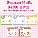 Sweet Milk Icon Sets by Kiss-the-Iconist