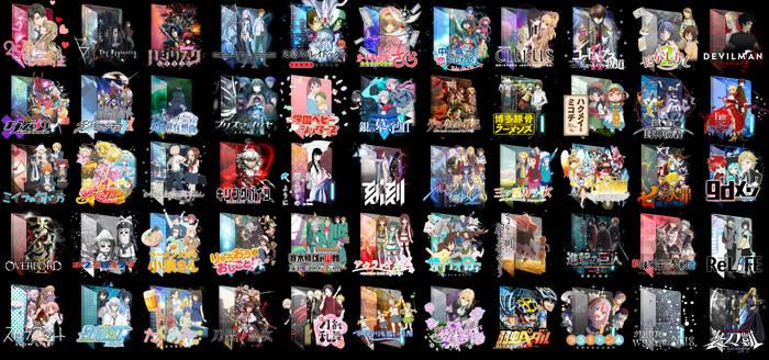 Anime Winter 2018 Folder Icon Pack