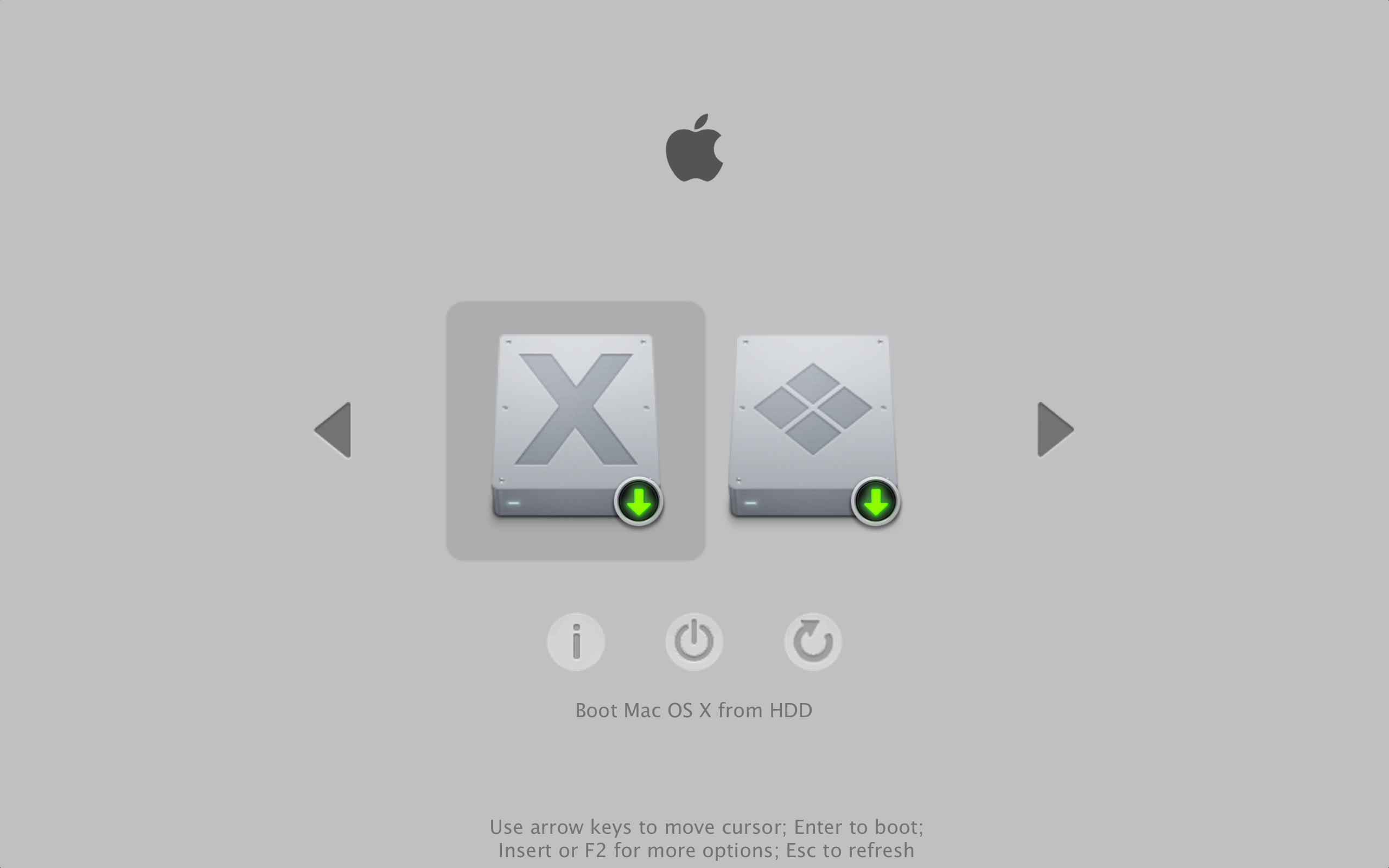 rEFInd OS X Theme by naymlezwun