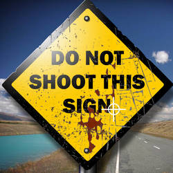 Shoot the roadsign by grubygrub