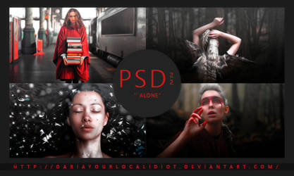 22 | PSD COLOURING | ALONE by dariayourlocalidiot
