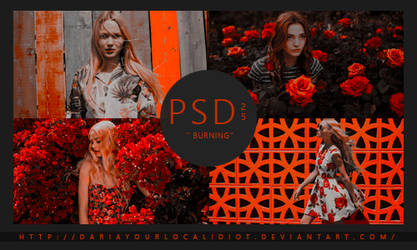25 | PSD COLOURING | BURNING by dariayourlocalidiot