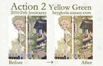 action 2 yellow green