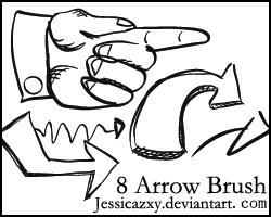 8 arrow brush by jessicazxy