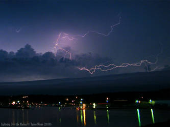 Lightning Over the Marina by dk463