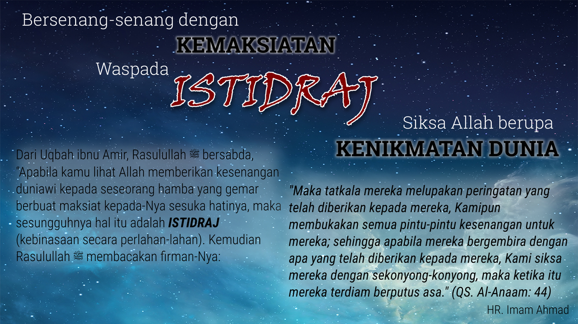 Istidraj - Islamic Wallpaper