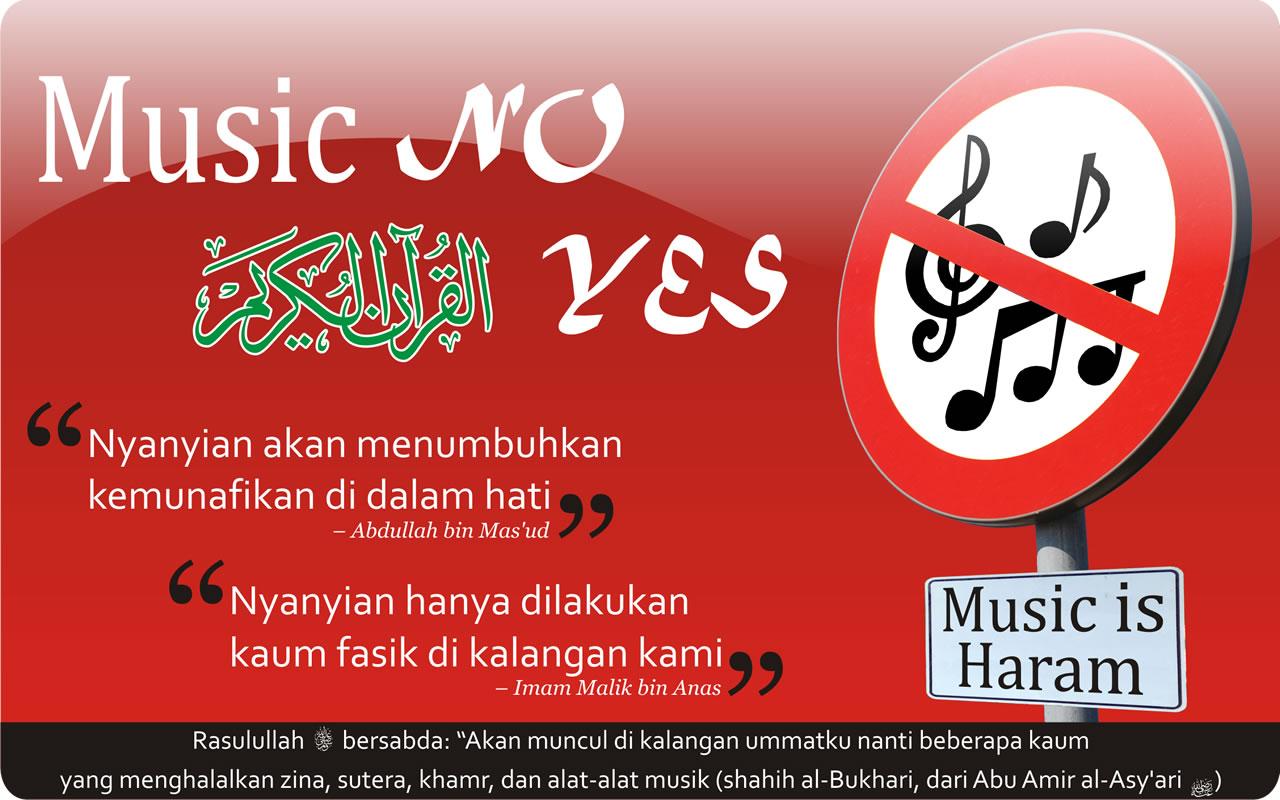 Music is Haram - Islamic Wallpaper