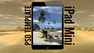 iPad mini PSD template