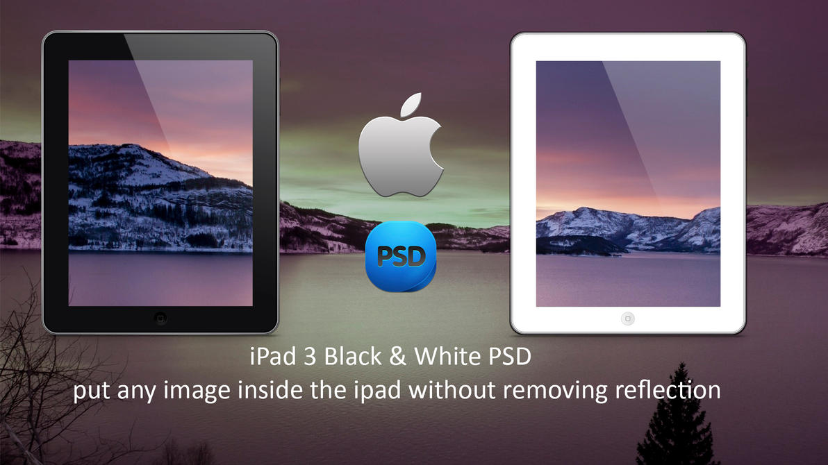 Useful iPad PSD Black and White by wahashmi