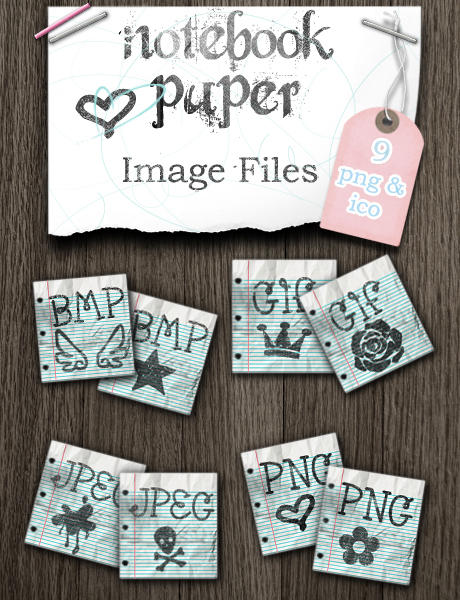 Notebook Paper Image Files by kittenbella