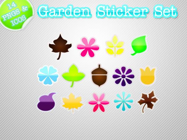 Garden Sticker Set by kittenbella