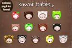 kawaii babies icons